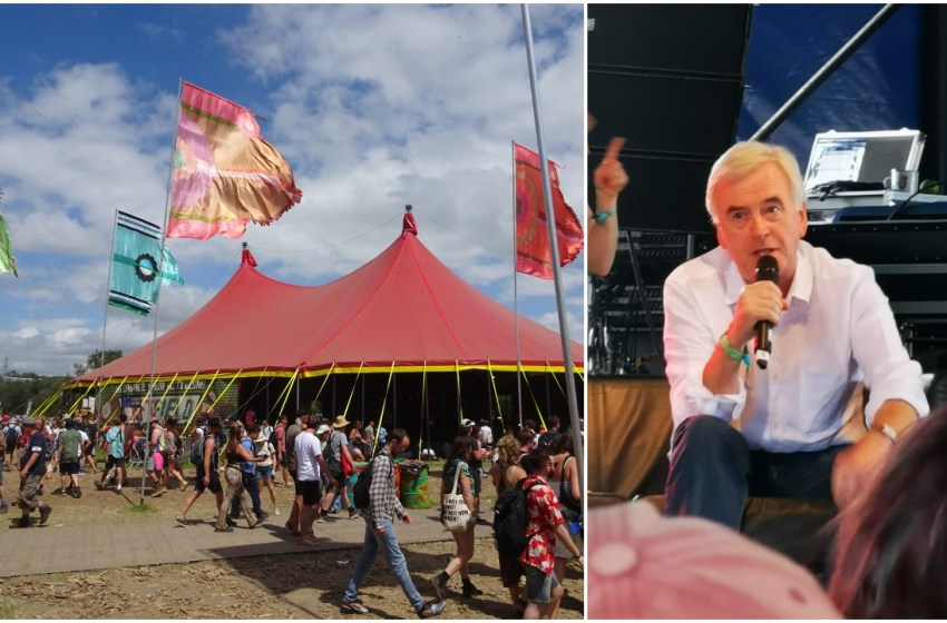 John McDonnell tells Glastonbury crowd Corbyn is in 'final consultations' on second Brexit referendum