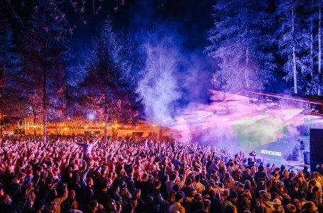 Snowbombing 2019 main stage woods night