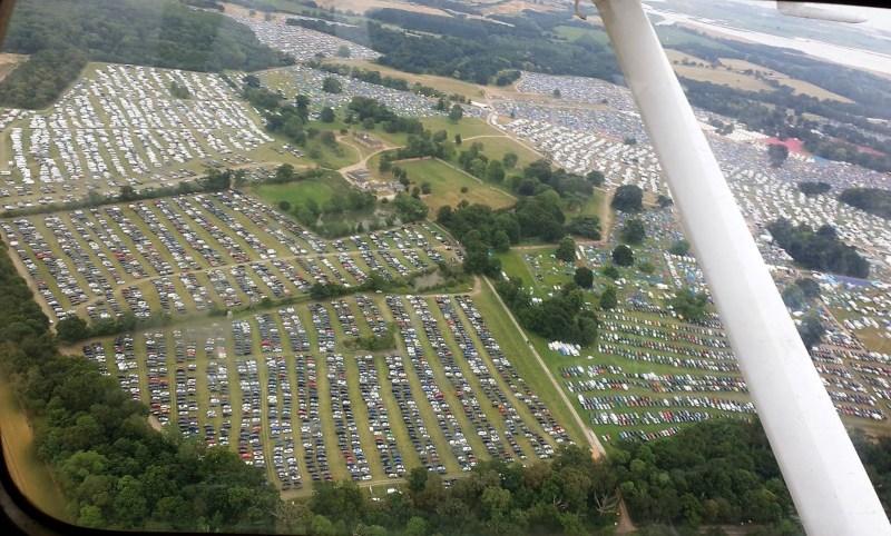 Latitude Festival 2019 Car Parks Aerial Photo