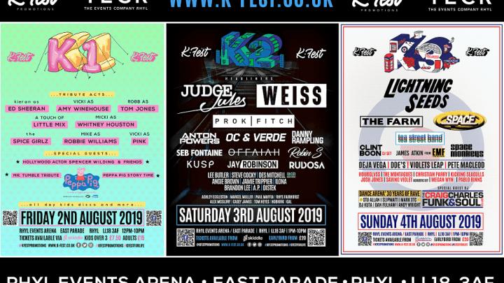 K-Fest Rhyl Line-up Posters Banner