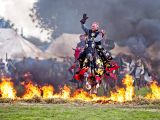 England's Medieval Festival horse jumping flames