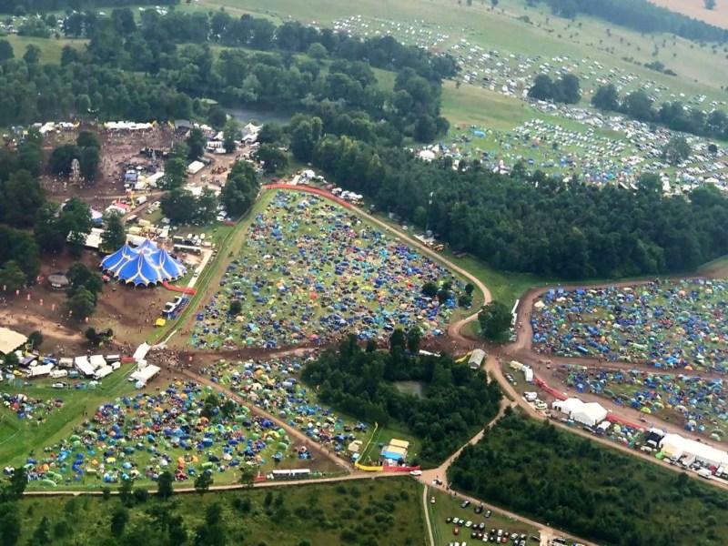 Kendal Calling Arena Aerial Photo