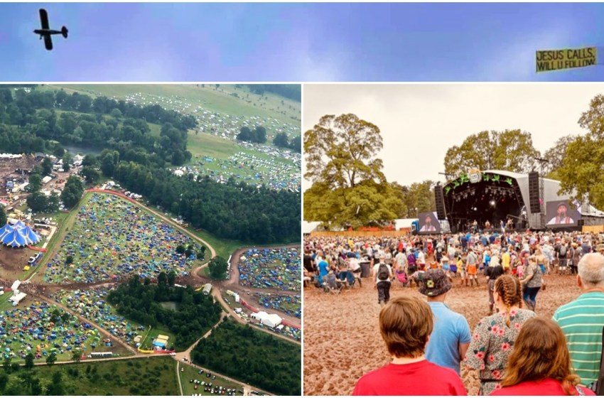 Exclusive aerial photos of Kendal Calling from the 'Jesus plane'