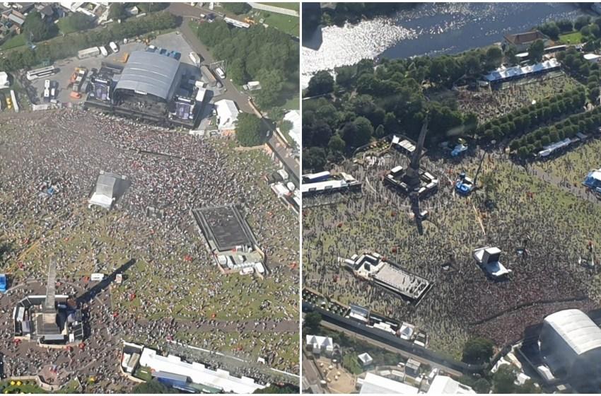 Exclusive aerial photos of TRNSMT taken from Jesus banner plane