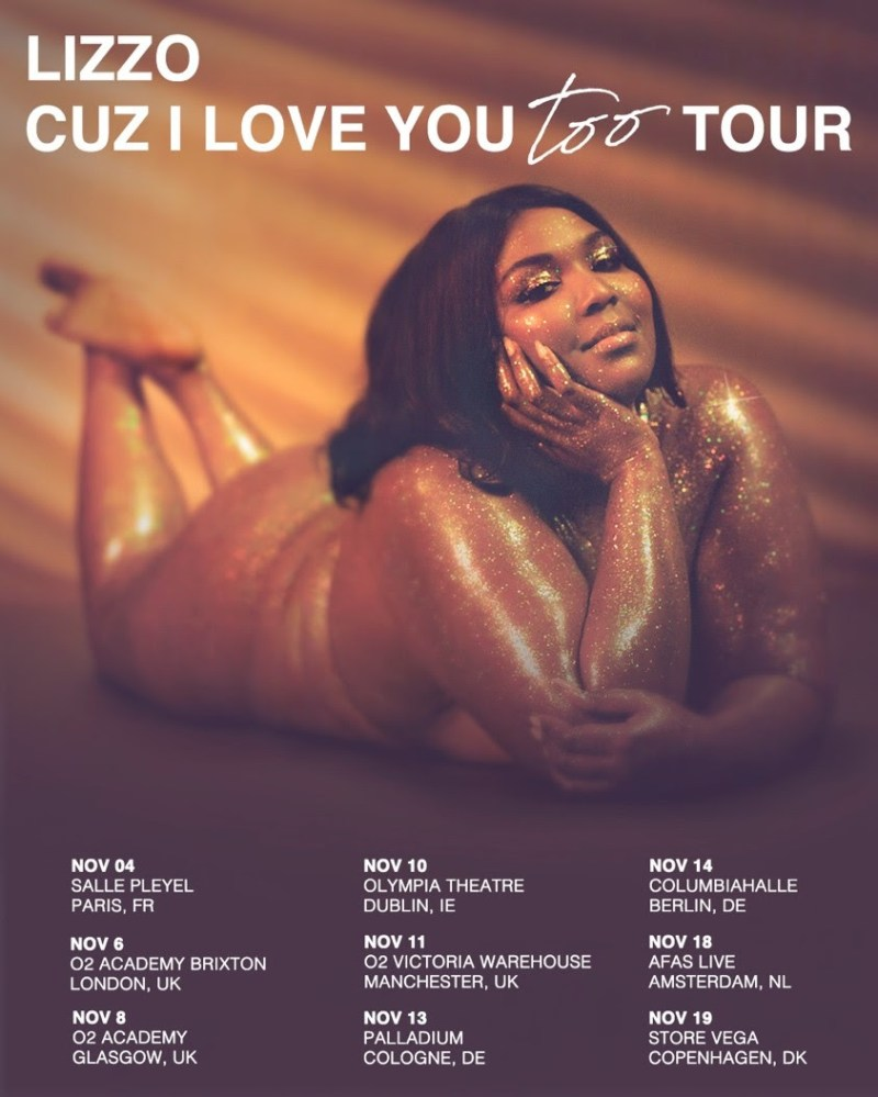 Lizzo 2019 tour poster