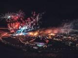 Boomtown Fair 2019 Panorama at night