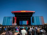 Global Temperatures Infographic on Reading Festival main stage