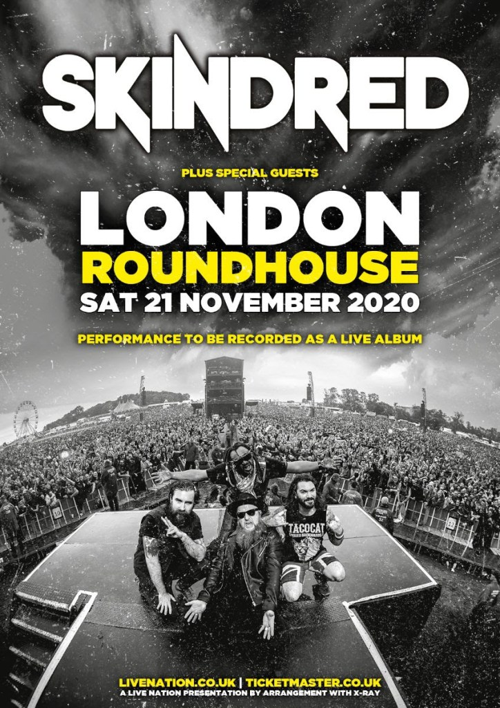 Skindred London Roundhouse Live Album Poster