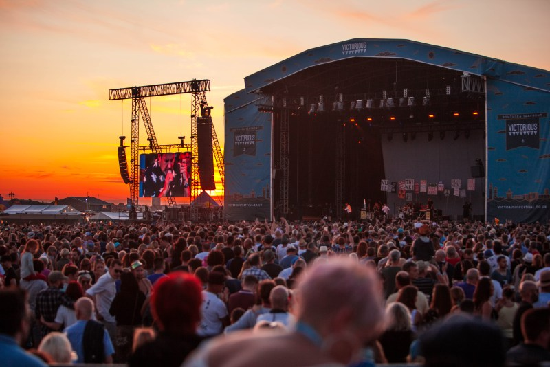 Victorious Festival main stage sunset