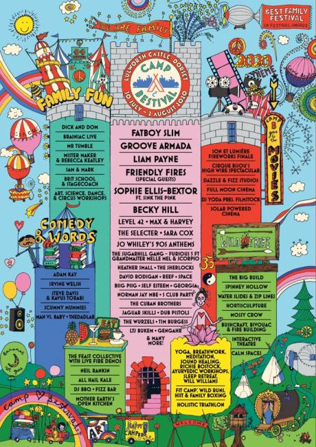Camp Bestival 2020 line-up poster