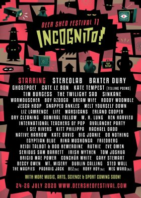 Deer Shed 2020 Incognito line-up poster second wave