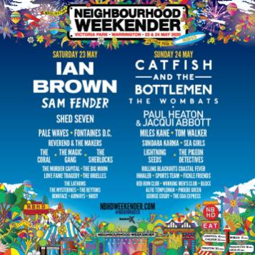 Neighbourhood Weekender 2020 line-up poster