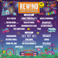 Rewind Festival North Line-up Poster 2020