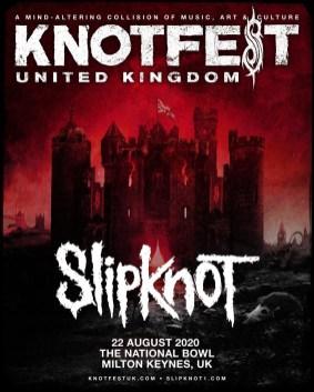 Knotfest UK 2020 line-up poster