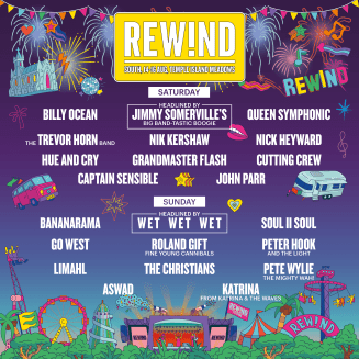 Rewind South 2020 line-up poster