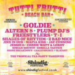 Shindig 2020 Tutti Frutti line-up poster