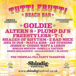 Shindig 2020 Tutti Frutti line-up poster