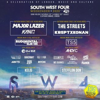 South West Four 2020 line-up poster