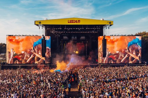 Leeds Festival pyro flares main stage