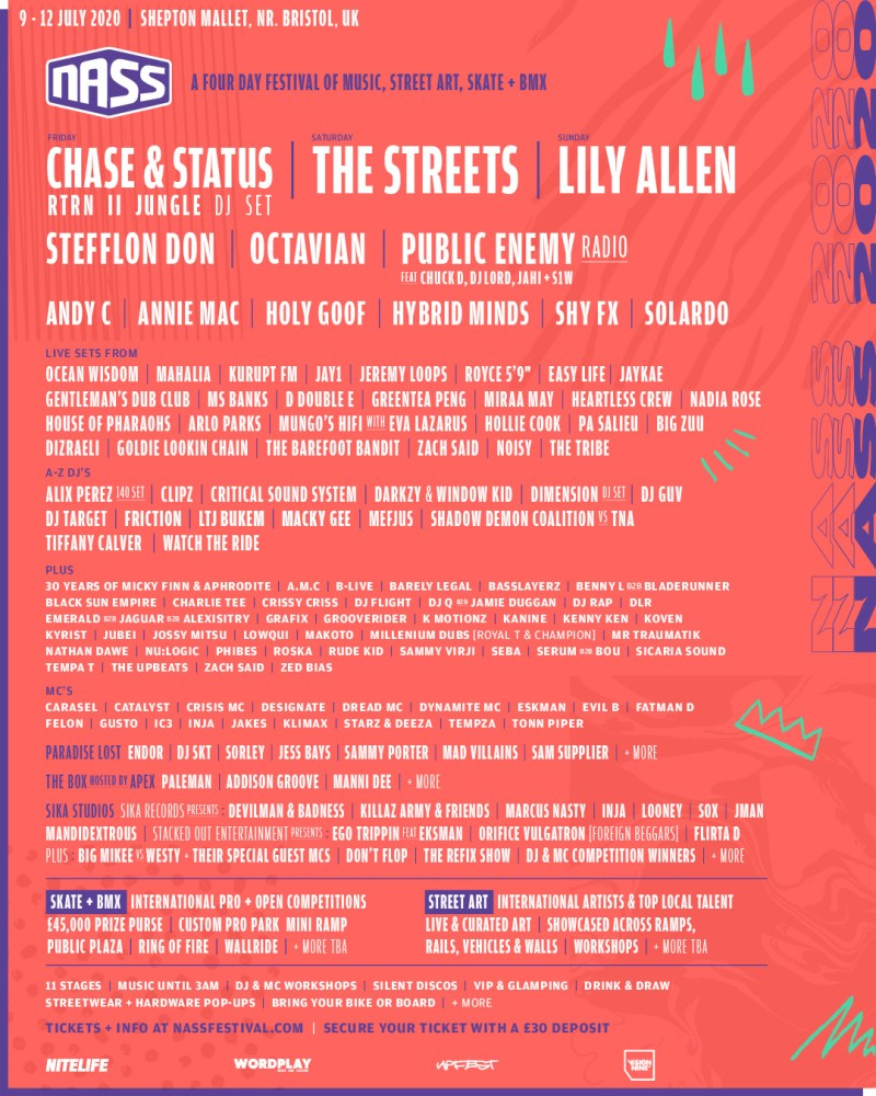 NASS 2020 line-up poster latest