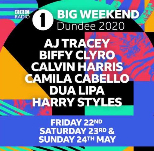 Radio 1 Big Weekend Dundee 2020 line-up poster