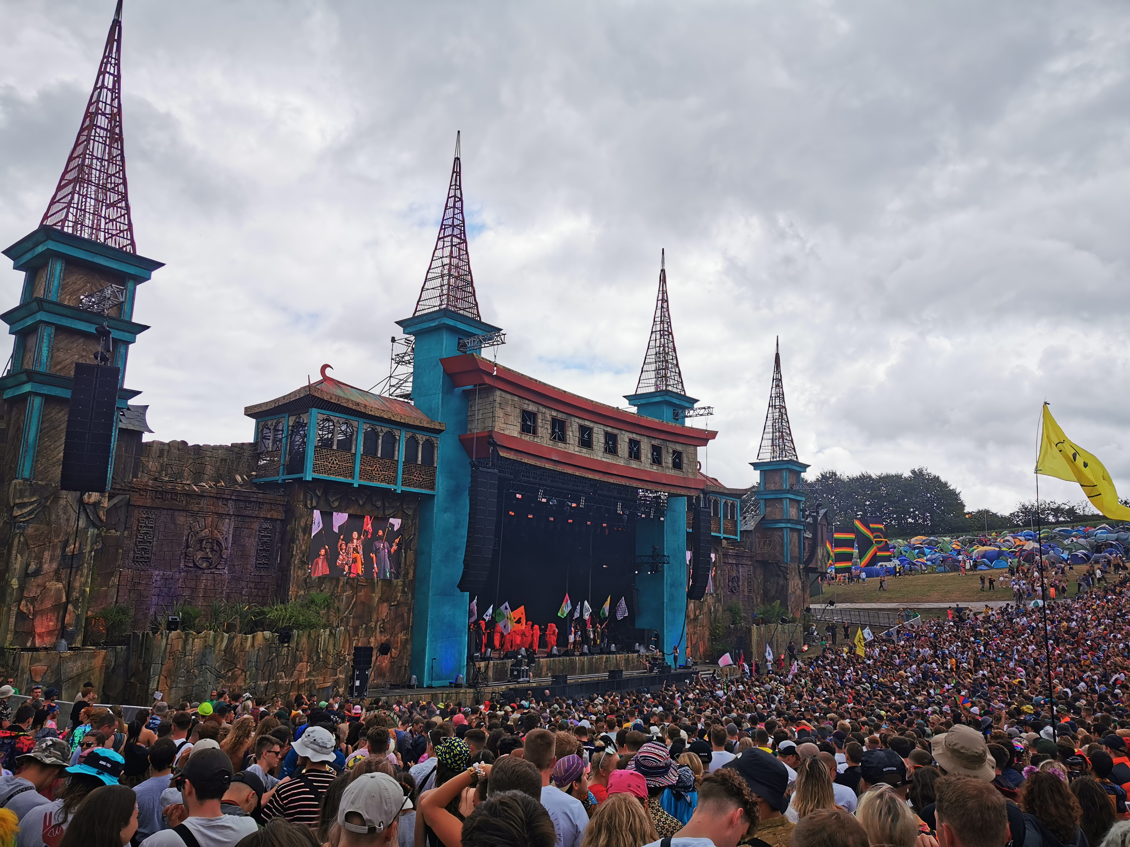 Boomtown Fair 2019 opening ceremony Lion's Den stage