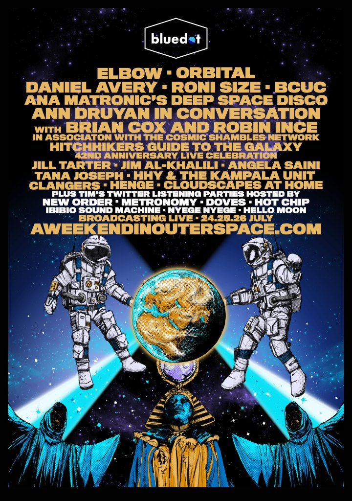 Bluedot A Weekend in Outer Space line-up poster