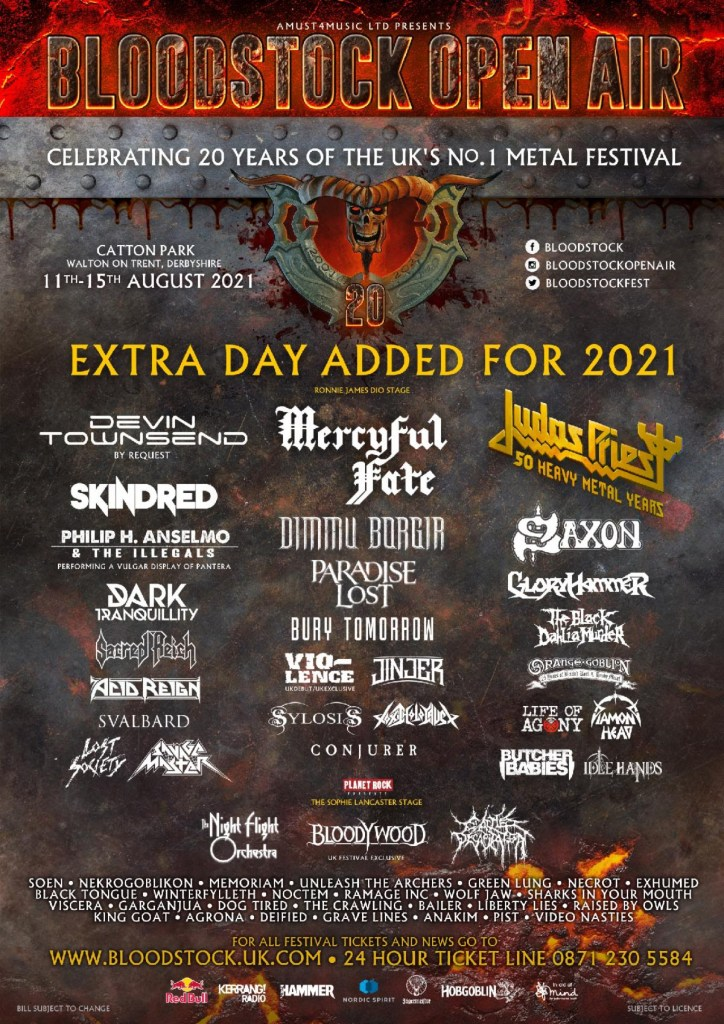 Bloodstock 2021 line-up poster updated
