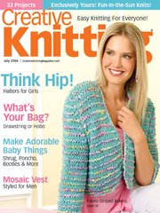 Creative Knitting July 2006