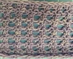 Unblocked Lace Cowl