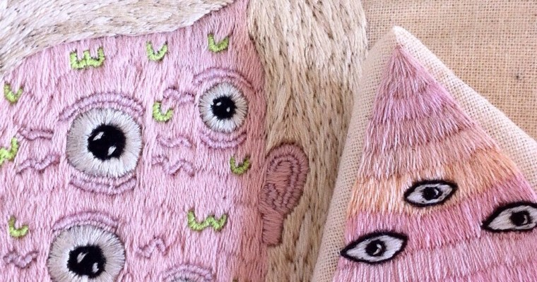 Embroidered Monsters by Famous Friends