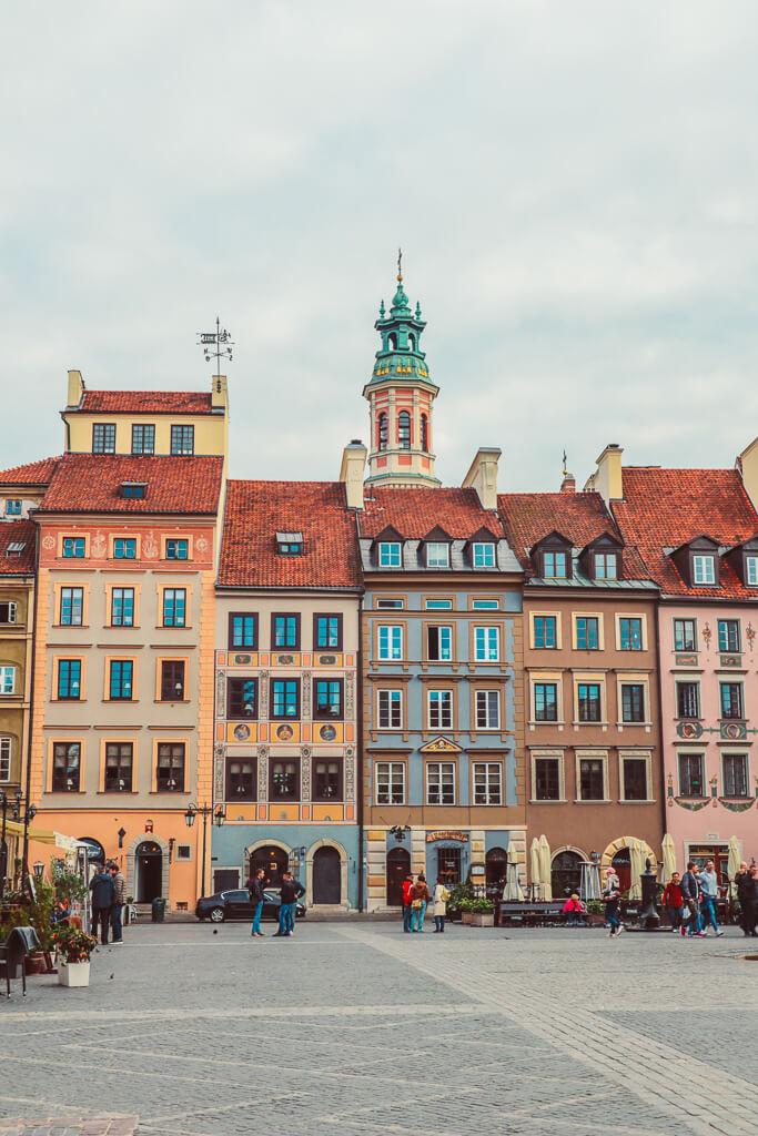 Warsaw's Market Square, Poland