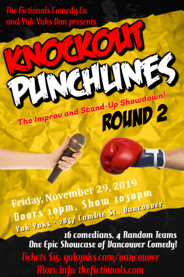 Knockout Punchlines Poster - November 29, 2019-min