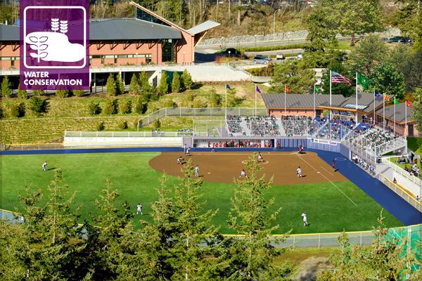 Western Washington University Woman's Fastpitch Softball Field Improvements. Digital simulation by Rick Mullen, Presentation Art Studio image: Erik J. Sweet