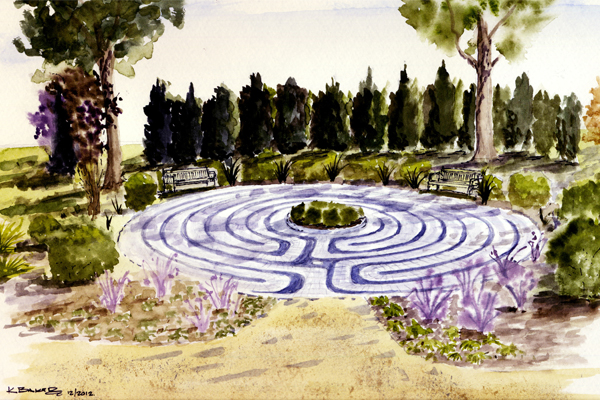 Watercolor rendering image: Thomas Baker