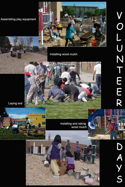 Volunteer days collage / image: Bambi Yost