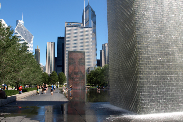 Crown Fountain in Chicago's Millennium Park image: Alexandra Hay