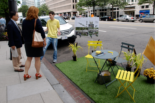 The Golden Triangle BID's PARK(ing) Day space image: Alexandra Hay