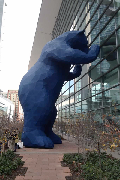 The Colorado Convention Center's Blue Bear image: Jules Bruck