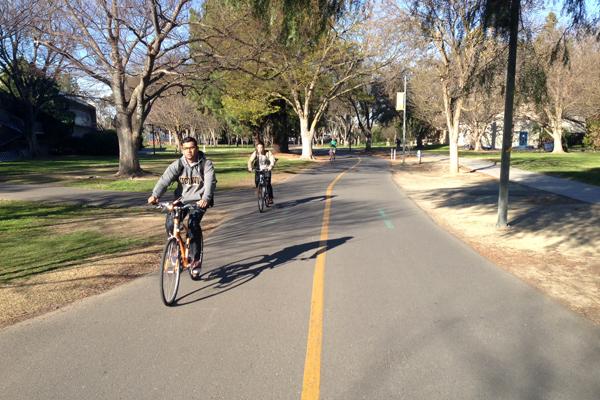 Typical campus bike path image: Skip Mezger