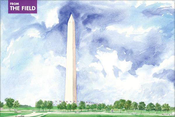 Washington Monument – 2008 General Design Honor Award Winner image: Olin Partnership