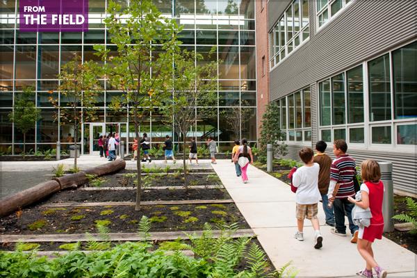 Manassas Park Elementary School Landscape – 2011 General Design Honor Award Winner image: Siteworks