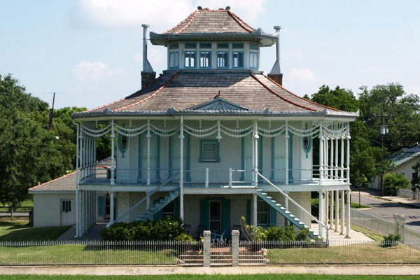 One of the Doullot Steamboat Houses, located near the levee in the Holy Cross neighborhood of the Lower Ninth Ward image: Alexandra Hay