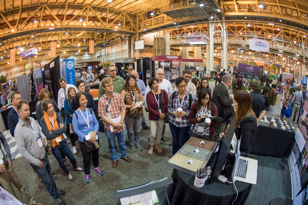 Tiffany Kafka, of Kafka Granite, presents to Ecology & Restoration PPN EXPO Tour attendees about the options for landscape architects to consider when selecting pathway materials for trails, walkways, and bike paths. image: Event Photography of North America Corporation (EPNAC)