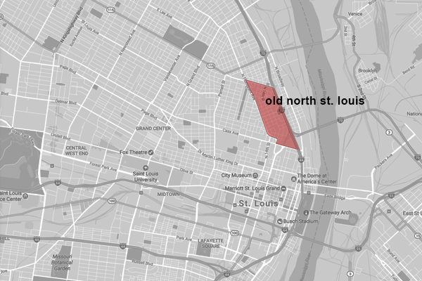 Map of Old North St. Louis / image credit: Shawn Balon