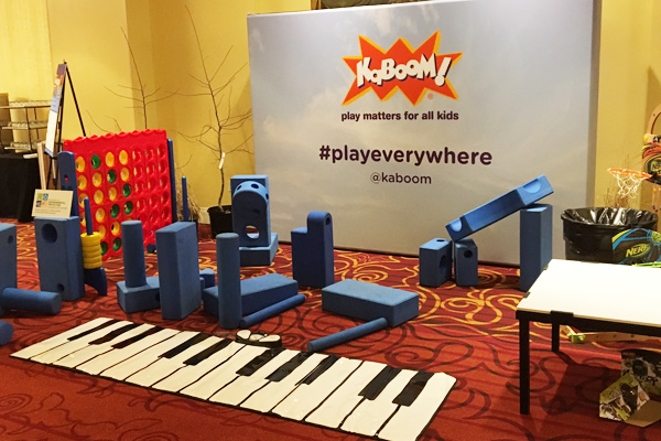 Creating Energy and Excitement in PLAYces, sponsored by KaBOOM!, Montgomery County Department of Environmental Protection image: Shawn Balon