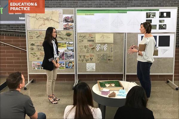 Student final project presentation