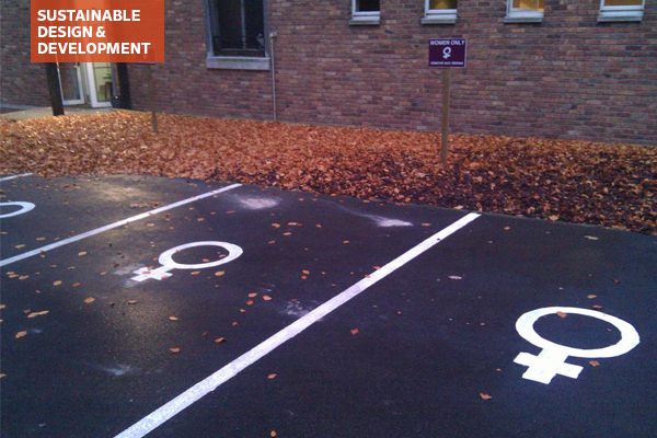 Parking spaces for women