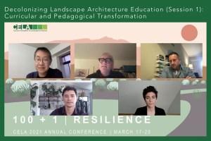 Decolonizing Landscape Architecture Education panel session at CELA 2021
