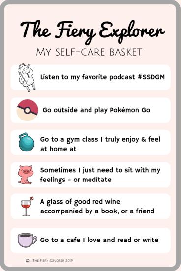 The Fiery Explorer self-care lists